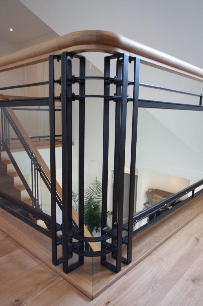 Houten trappen met steel look Oosterhout